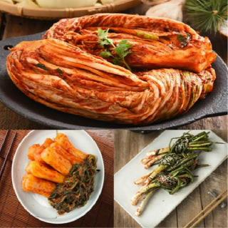[국산 100%]농협 아름찬 김치선물세트 포기2kg+총각2kg+파1kg