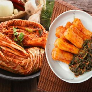 [국산 100%]농협 아름찬 김치세트 포기5kg+총각5kg