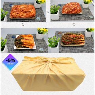 [국내산 김치 3종 감사문구+보자기 선물포장] 포기김치 1kg+파김치 1kg+총각김치 1kg
