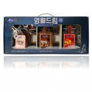 영월농협 동강마루 영월드림선물세트(벌꿀고추장500g+한식된장450g+만능양념장500g)