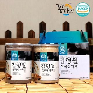 김명월 검정콩 청국장가루 1kg(500g*2통)