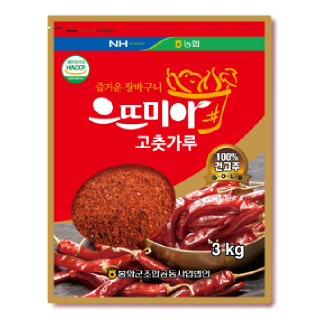 봉화농협 2019년산 으뜨미아고춧가루 3kg
