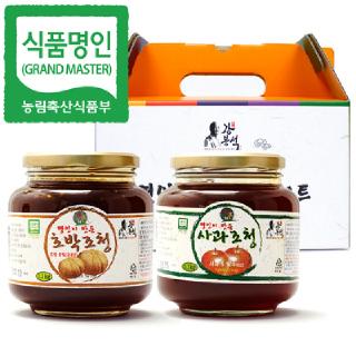 두레촌 명인 호박/사과조청 1.1kgx2개입