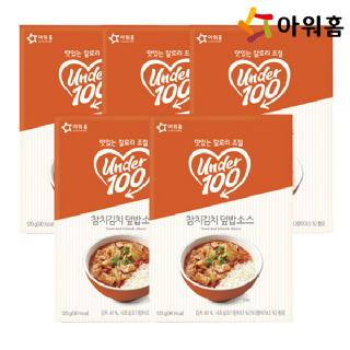 아워홈 언더백 참치김치덮밥 소스 120g 5개