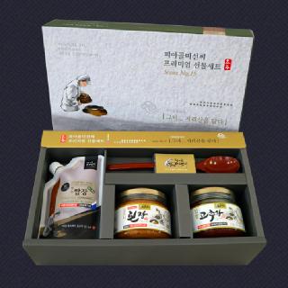 피아골미선씨 장류3종(옻수저) 프리미엄 선물세트 특1호