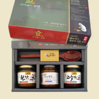 피아골미선씨 장류3종(옻수저) 프리미엄 선물세트 1호