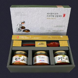 피아골미선씨 장류3종(옻수저) 프리미엄 선물세트 특2호