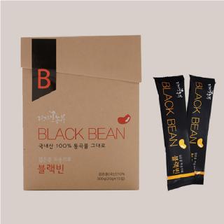 [전통식품인증제품] 검은콩 미숫가루 블랙빈(15입(300g)/30입(600g)/지퍼백500g)