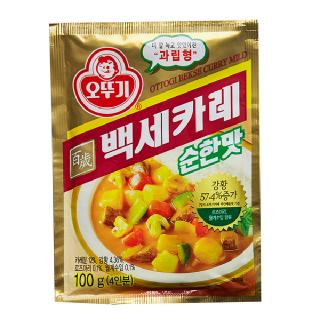 농협하나로마트 오뚜기 백세카레 순한맛 100g
