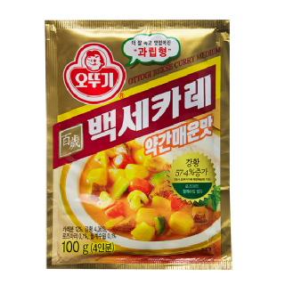 농협하나로마트 오뚜기 백세카레 약간매운맛 100g