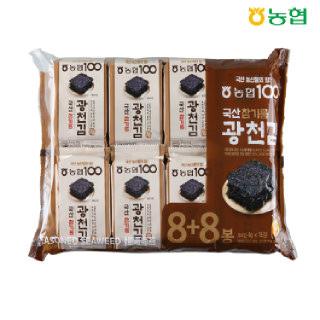 농협 국산 참기름 광천김 4g(8봉+8봉)