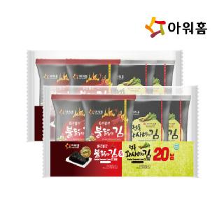 아워홈 불닭맛김(10장)&와사비맛김(10장)(60gx2) x 2개