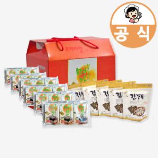 하동권여사 프리미엄 선물세트 명란김 3봉x6봉+김부각 5봉