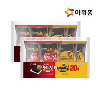 아워홈 불닭맛김(10장)&데리야끼(10장)(60gx2) x 2개