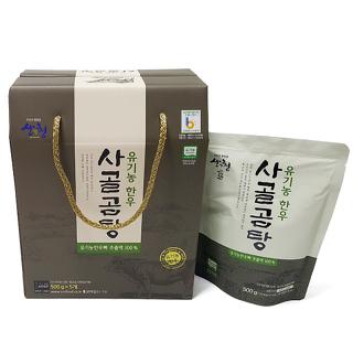 유기농 한우 사골곰탕 선물세트(500gx5)
