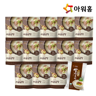 아워홈 진한 사골곰탕 13개+떡국떡 500g 1개