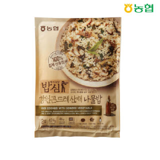 농협 밥심 강원곤드레산채 나물밥(2인분) 424g
