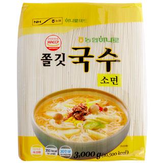 [전단상품]하나로 쫄깃국수 소면, 3kg(30인분)