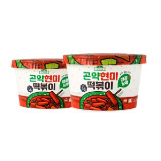 쫄깃한 식감 곤약현미떡볶이 매콤달콤 2개