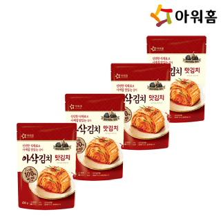 아워홈 아삭김치 맛김치 400gx4개 (발효흑마늘첨가)