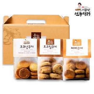 이순자안동생강 쿠키세트(커피,코코넛,초코칩) 300g