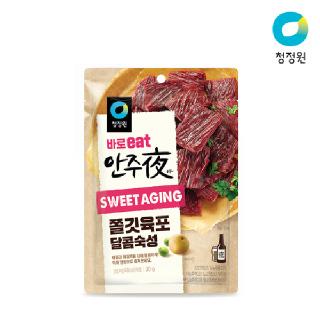 청정원 사브작 쫄깃육포바이트 달콤과일숙성30g