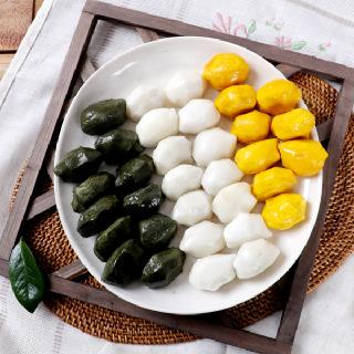 [맛정] 찌지않고 먹는 흰송편 1kg + 쑥송편 1kg + 호박송편 1kg