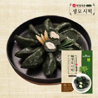 우리쌀로 만든 햇살빚은 생 모시떡(동부) 400g x 4팩