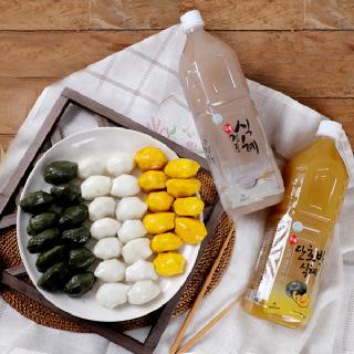 [맛정] 찌지않고 먹는 흰송편 1kg + 쑥송편 1kg + 호박송편 1kg + 식혜 2병(전통,호박)