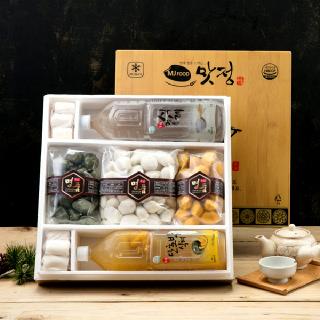[맛정] 찌지않고 먹는 명품 송편 선물세트 (송편1.5kg 3종+식혜1.5L 2종+소떡롤)