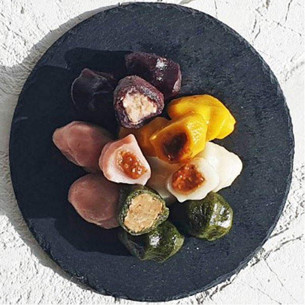 [착한떡] 오색송편 1.2kg (반되)