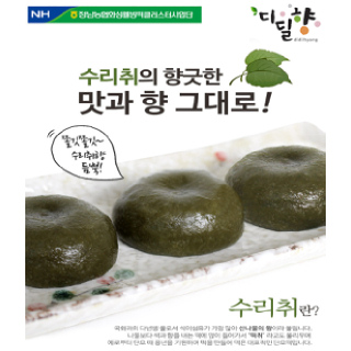[정남농협 디딜향] 수리취 찹쌀떡 800g(40g*20봉)