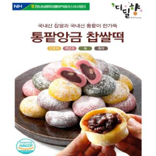 [정남농협 디딜향] 통팥앙금 찹쌀떡 800g(40g*20봉)