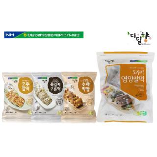 [정남농협 디딜향]호두찰떡+흑임자구름떡+수제약밥+5가지영양찰떡