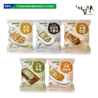 [정남농협 디딜향]찰떡 5종세트(약밥,수리취,호두,구름,호박)