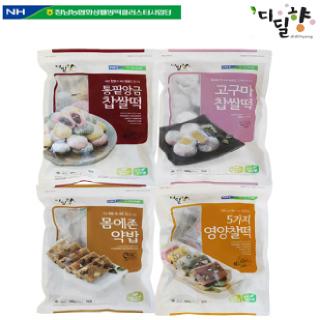 [정남농협 디딜향] 찰떡 4종세트(5가지영양찰떡,고구마,통팥앙금,약밥)