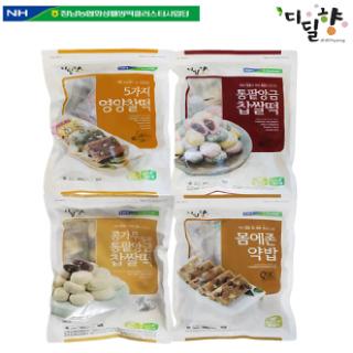 [정남농협 디딜향] 찰떡 4종세트(5가지영양찰떡,통팥앙금,약밥,콩가루)