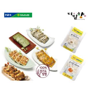 [정남농협 디딜향]찰떡5종(신5봉)+유기농떡국떡+유기농떡볶이떡