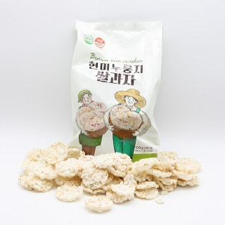 쌍지뜰 현미누룽지쌀과자 100g*3개