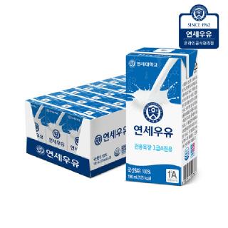 연세우유 멸균우유 190ml x 24팩