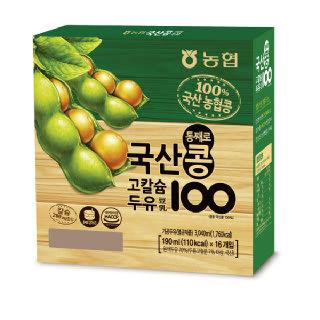 농협 아름찬 국산콩100 고칼슘 두유 16팩(1+1)