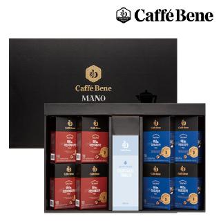 카페베네 마노 선물세트 1호 (마노 10T 라틴x4,마노 10T 아프리카x4,보틀 1개)