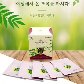 [착한제주]제주 두충잎차 1g 15티백X4박스