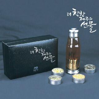 [착한제주]제주 수제차 8종+티보틀420ml(쇼핑백 동봉)