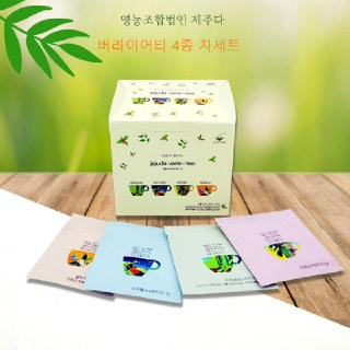 [착한제주]버라이어티 제주 수제차 4종 20티백X4박스(무농약귤피/조릿대/두충/꾸지뽕)