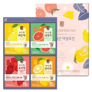 [녹차원] 과일담은 액상차포션 선물세트