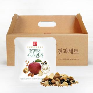 유기샘 국산 친환경 건강담은 사과견과 28일분