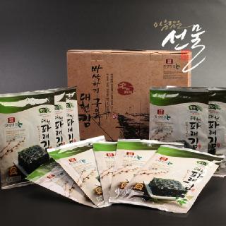 보령대천 바삭하게 구운 대천 파래김 선물세트(20g*10봉)