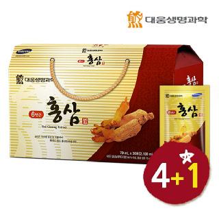 [4+1 행사] 대웅생명과학 6년근 홍삼 30포*총5박스