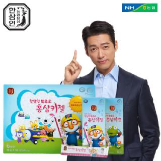 [농협홍삼 한삼인] 뽀로로홍삼키젤_15gX56포_1세트 +쇼핑백